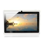 Yuntab Google Android 7 inch Tablet PC Wifi 8GB Ram Z88 Allwinner A33 Quad-core 2200mAh Dual Cameras Pad (White)