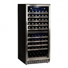 EdgeStar CWR1101DZ 110 Bottle Built-In Dual Zone Wine Cooler – Stainless Steel and Black