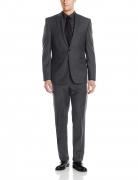Vince Camuto Men's Two Button Slim Fit Solid Suit