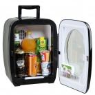 SMETA 12V Refrigerator Freightliner Cascadia Mini Fridge with Glass Door Truck Beverage Cooler Office Warmer,AC DC
