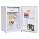Costway Compact Single Reversible Door Mini Refrigerator and Freezer Office Home, 4.4 Cubic Feet, White